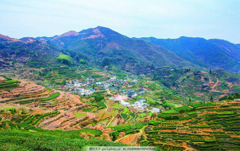 大埔西岩山村庄 广东 大埔县 摄影 风景 国内旅游