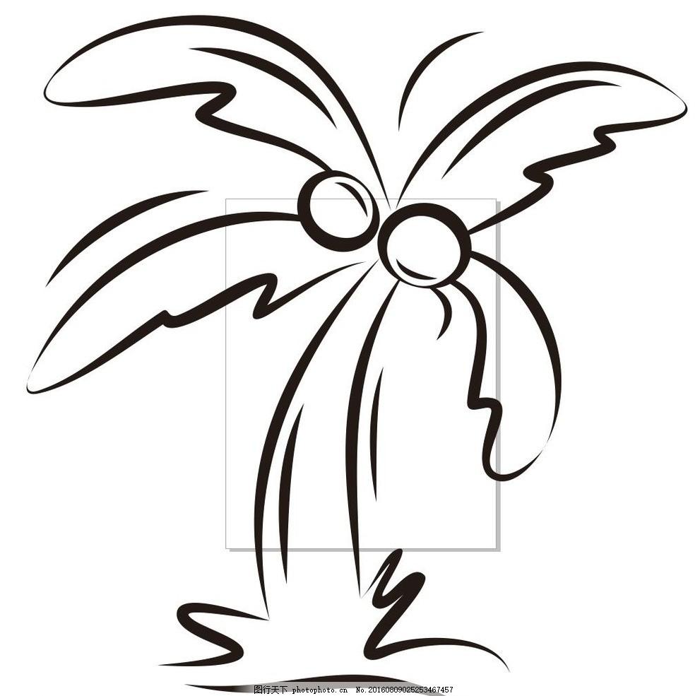 树 简约画 植物 树木 草木 艺术插画 插画 装饰画 简笔画 线条 线描