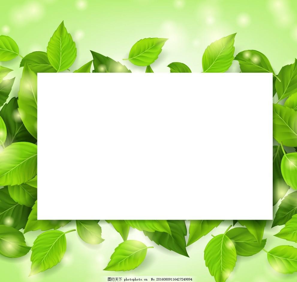 绿叶边框 绿色树叶 绿叶 框 边框 树枝 花朵 设计 广告设计 广告设计