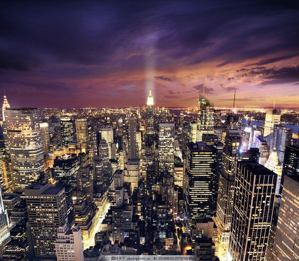 唯美 城市风景 繁华都市 晚上 奢华背景 banner背景 旅游景点 城市