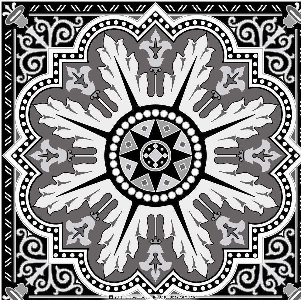 抛晶砖拼花 地毯拼花 广场拼花 拼花花纹 拼花图案 雕刻花纹 欧式花纹