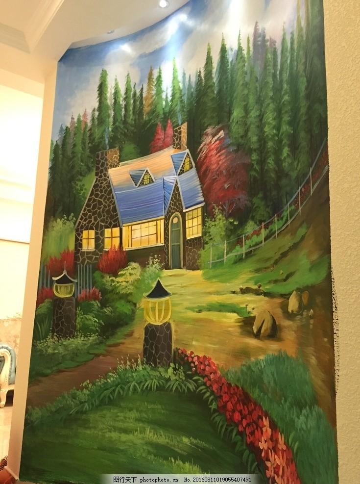 童话森林墙绘