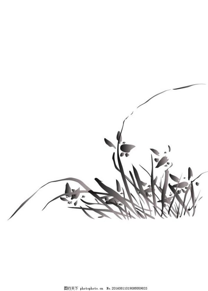 水墨画植物 中国画 水墨写意 水墨画 水墨风景 无框水墨画 水墨装饰画