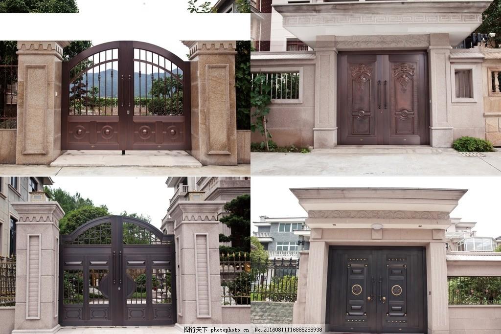 豪华 铜门 庭院门 高清 宣传 铜门 设计 广告设计 广告设计 abr