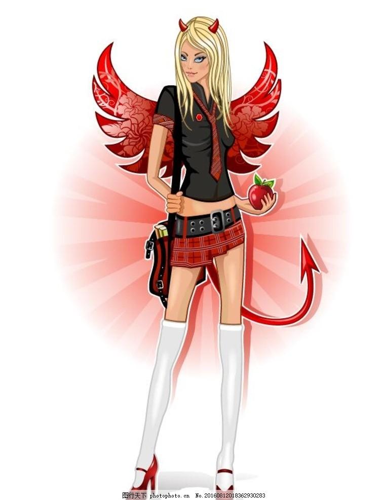 清新美少女 美少女战士 卡通 印花 漫画 手绘 可爱 学生文具设计 美