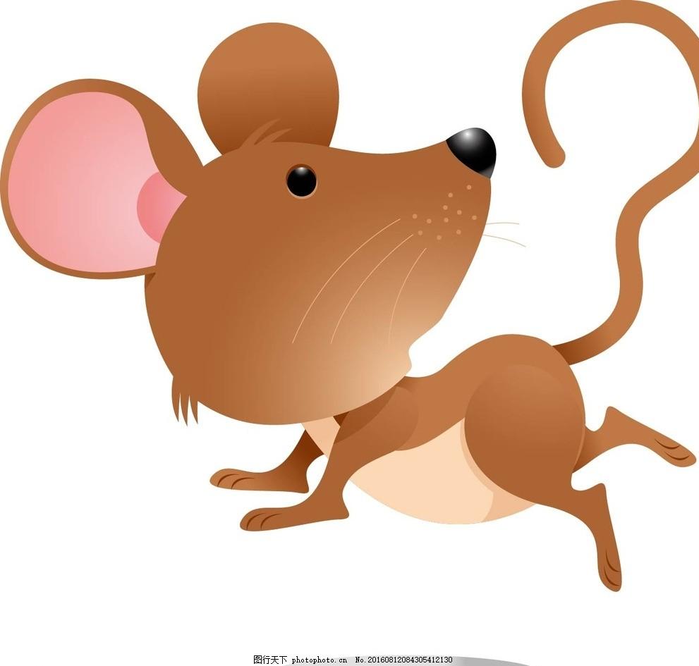 老鼠 动物 卡通动物 矢量素材 幼儿园墙画 卡通贴纸 小动物 可爱动物