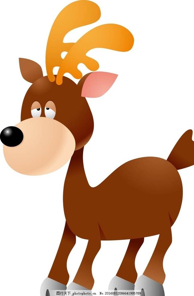 幼儿园墙画 墙画 卡通贴纸 小动物 可爱动物 矢量动物 底纹背景 服装