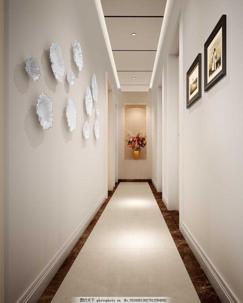 过道 吊顶 地砖 墙面装饰 玄关 踢脚线 设计 环境设计 室内设计 300