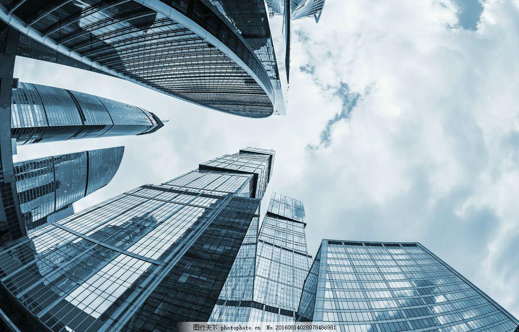 城市建筑仰视
