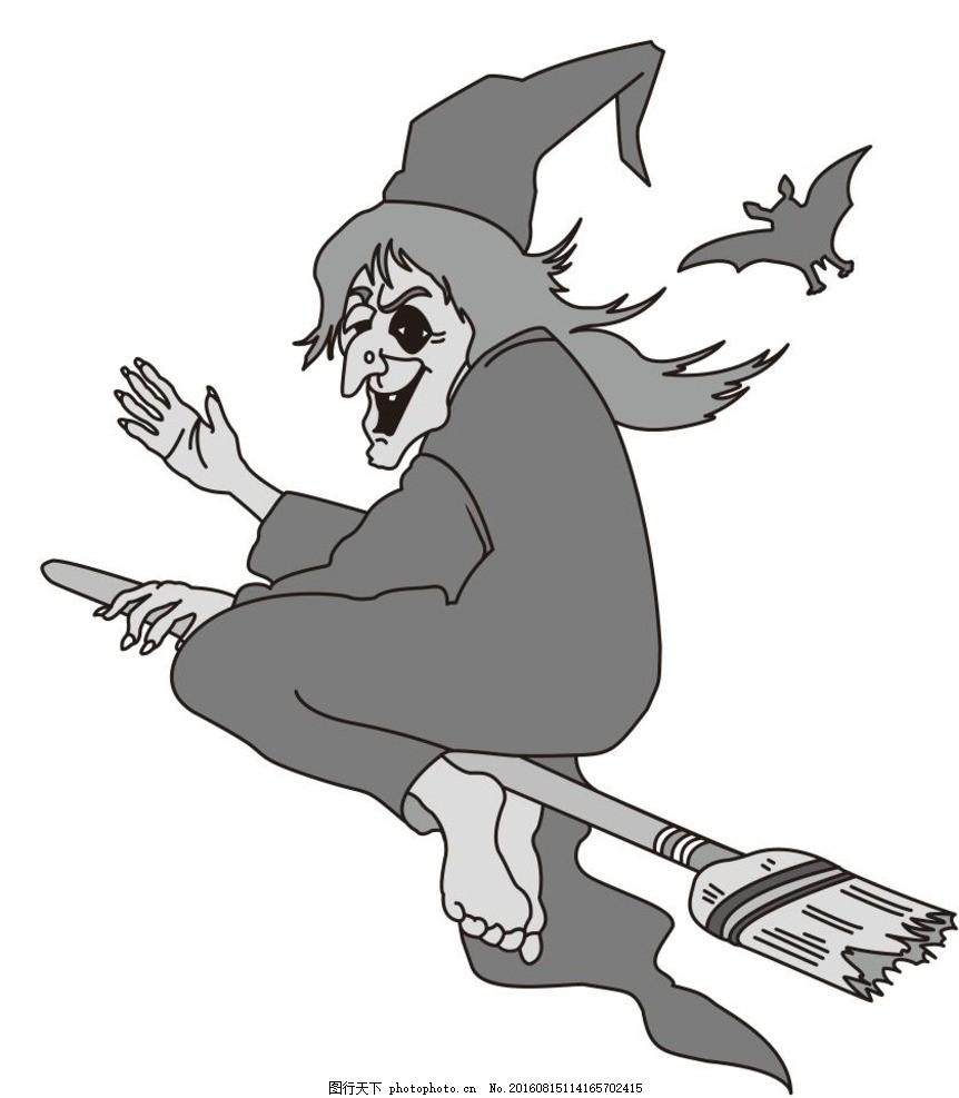q版人物萌图手绘女巫