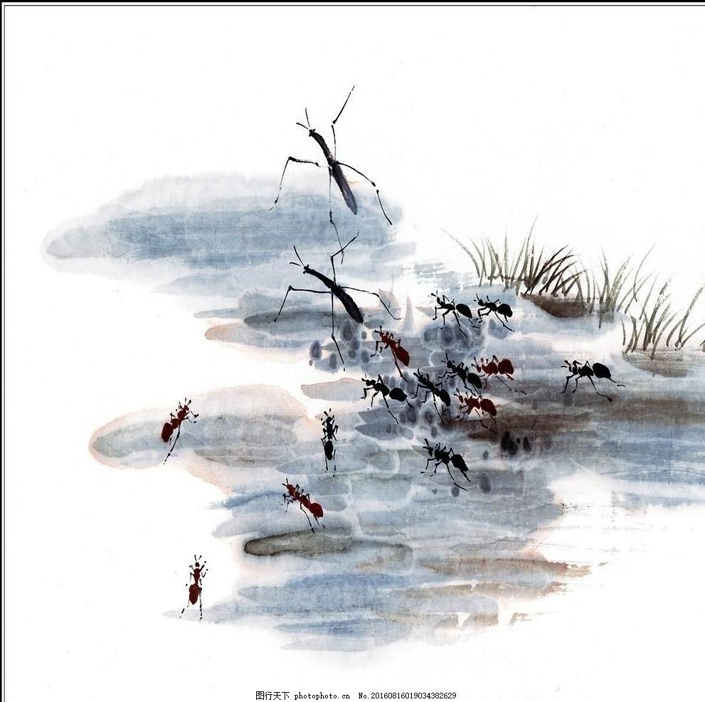 花 蚂蚁 工笔动物 花鸟 花鸟国画 植物 竹子 牡丹 国画花 挂历 山水