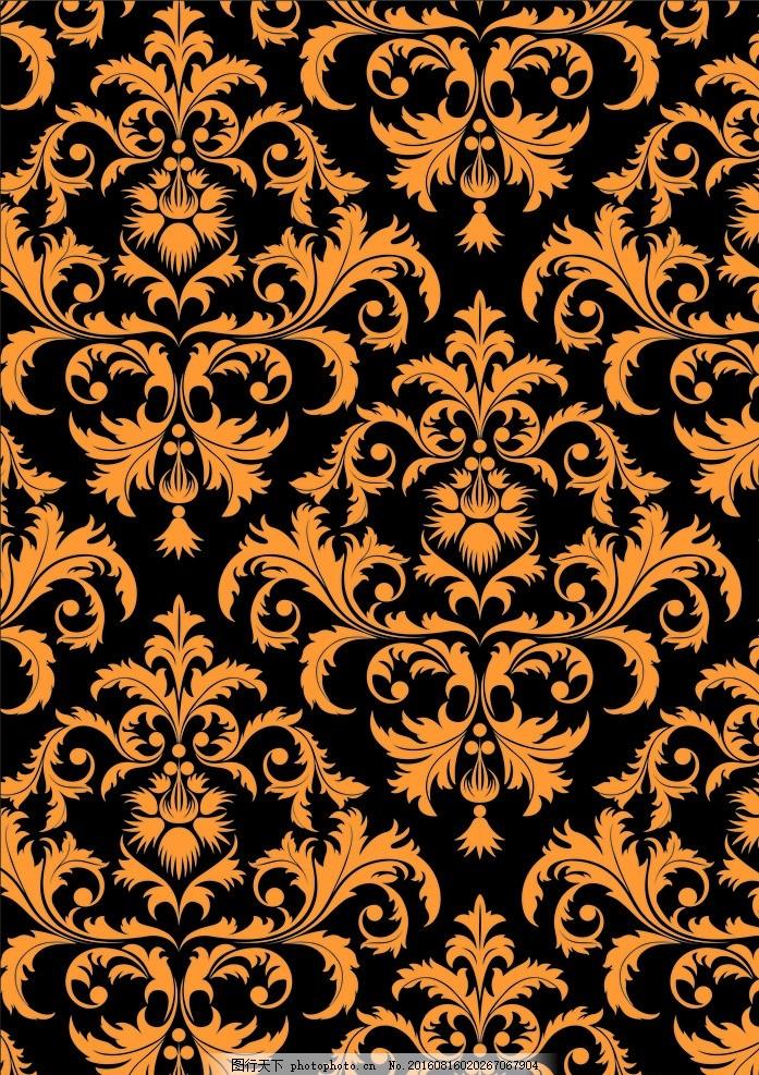 欧式底纹 金色底纹素材 花纹背景 大气花纹 设计底纹