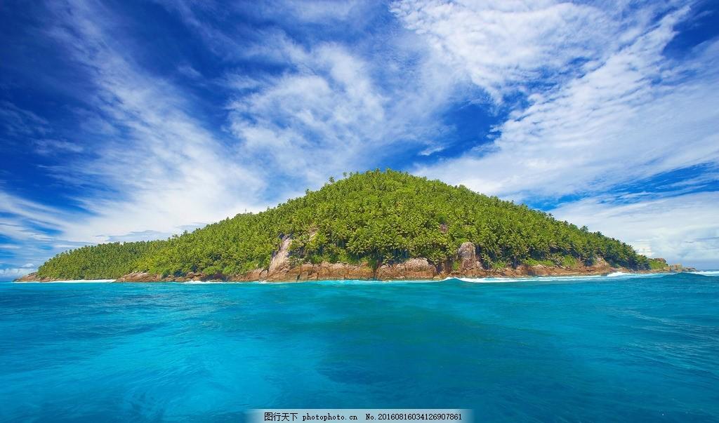 蓝色海洋壁纸 大海 自然 风景 海岛 摄影