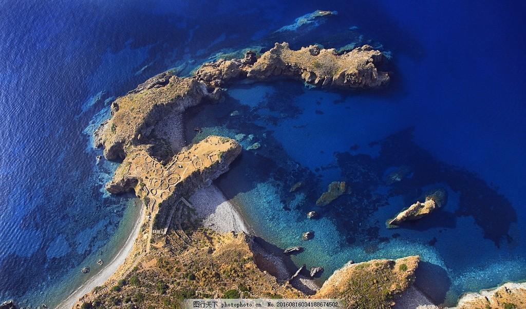 蓝色海洋壁纸 大海 航拍 自然 风景 摄影