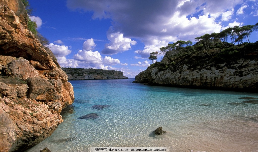 蓝色海洋壁纸 大海 风景 自然 摄影