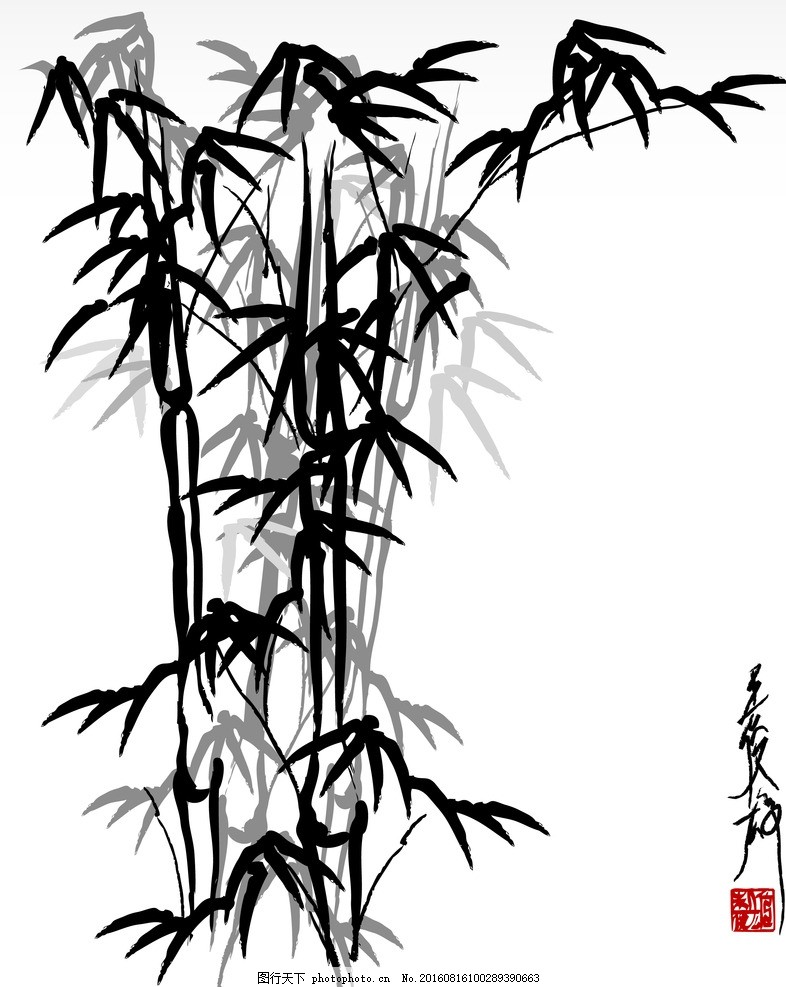封皮图片大全手绘竹子