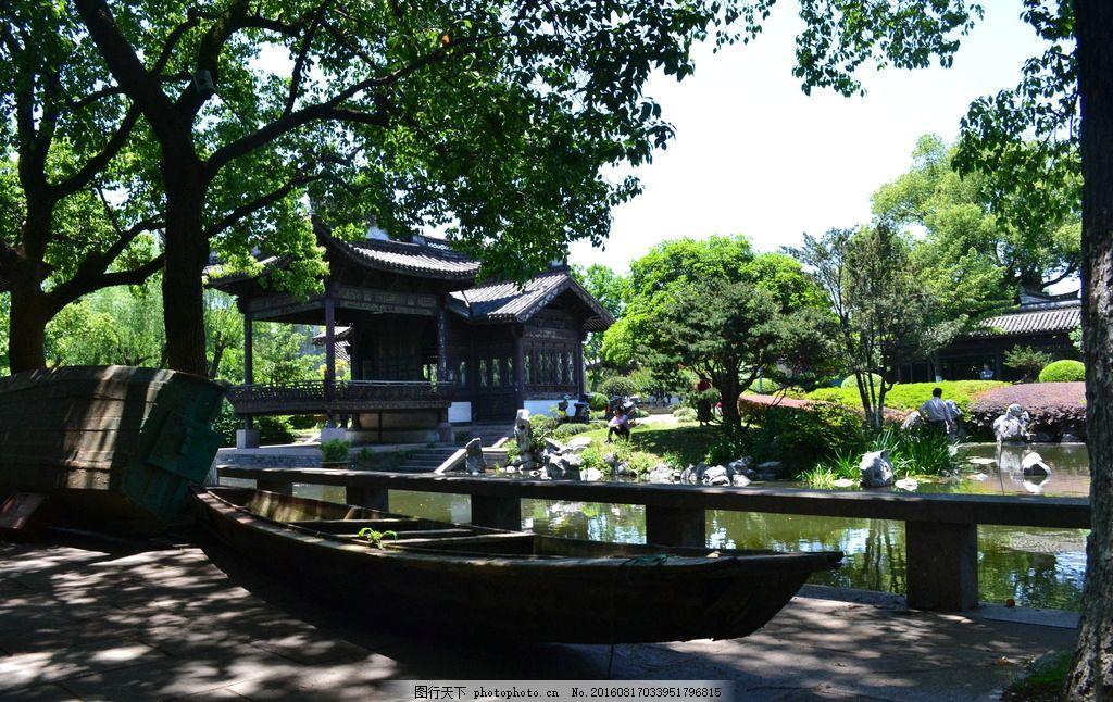 月湖 宁波 宁波风光 月湖公园 古建筑 仿古建筑 园林建筑 中式建筑