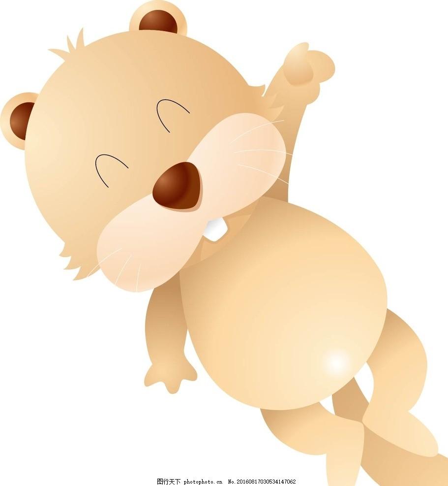 浣熊 动物 卡通动物 矢量素材 幼儿园墙画 卡通贴纸 小动物 可爱动物