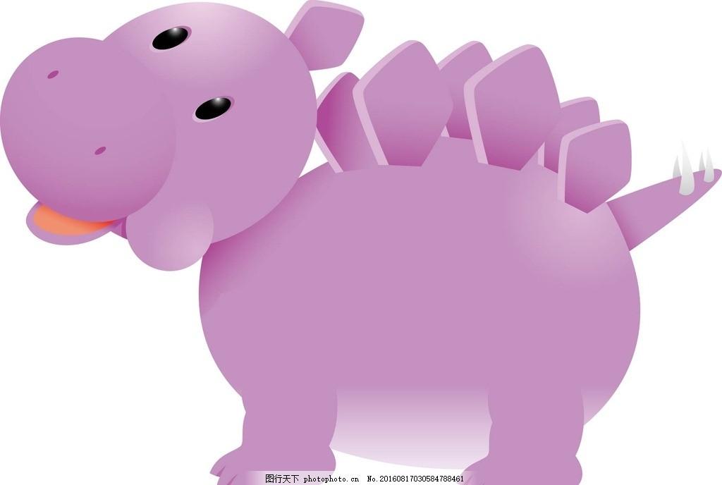 恐龙 动物 卡通动物 矢量素材 幼儿园墙画 墙画 卡通贴纸 小动物 可爱