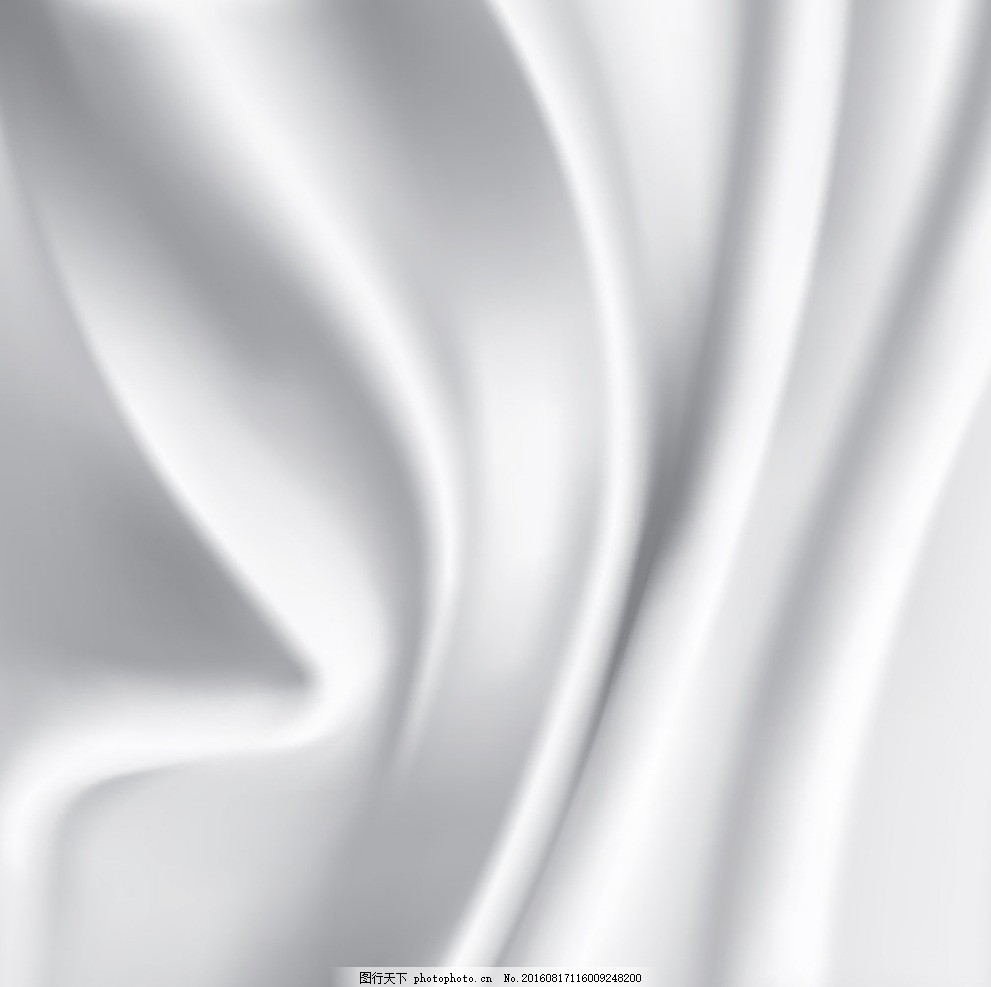 白色丝绸背景