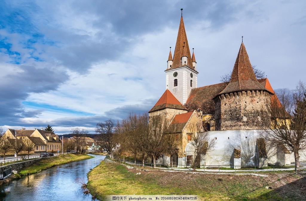 外国小镇 欧洲建筑 唯美 旅游 自然风景 300ppi 建筑 摄影 自然景观