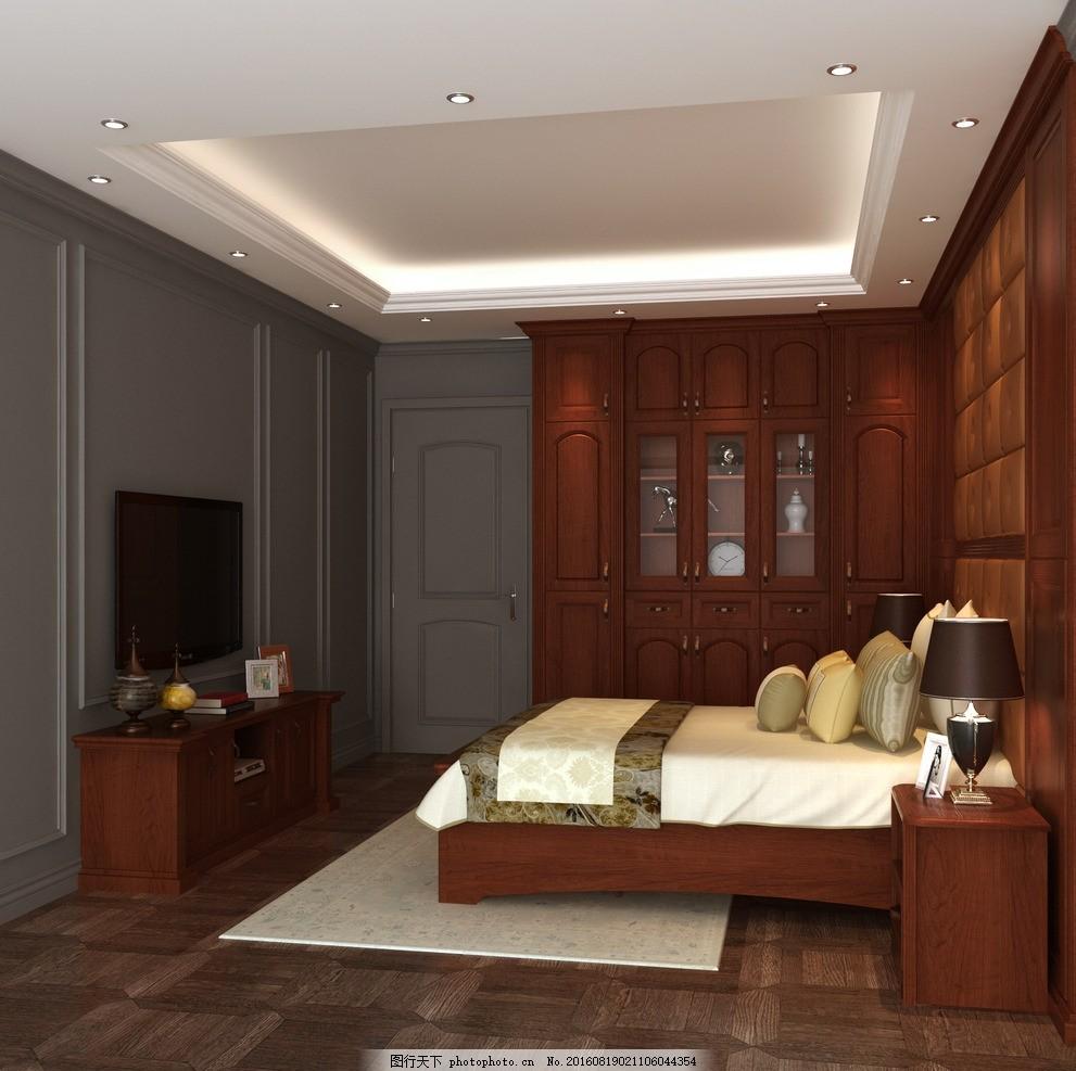 卧室效果图             床 衣柜 欧式 电视柜 设计 3d设计 3d作品 72