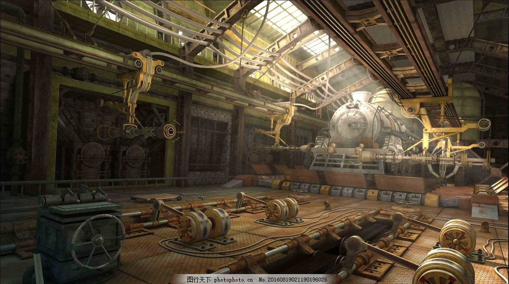 maya工厂 高清 渲染 效果图 动画 场景 工厂内部 机械 科幻