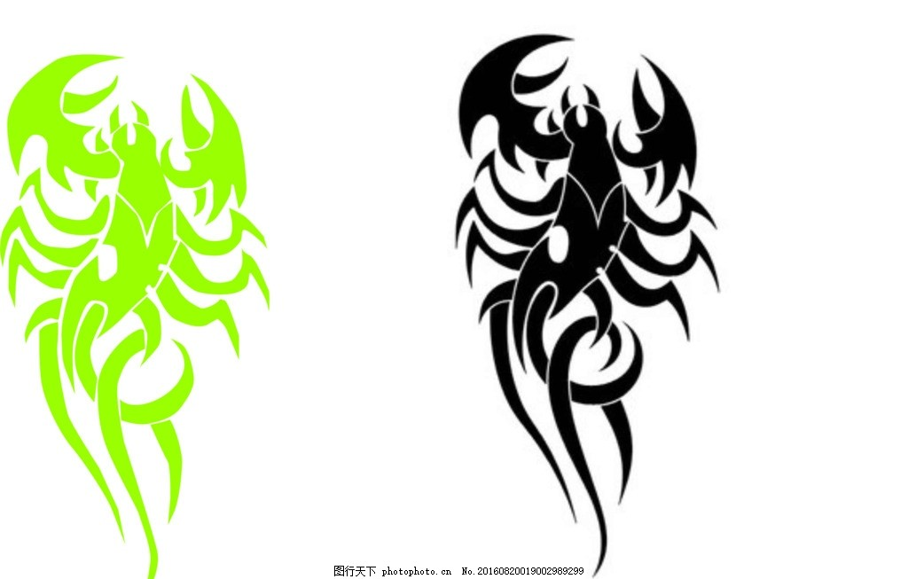 蝎子 矢量图 临摹 动物 共享图