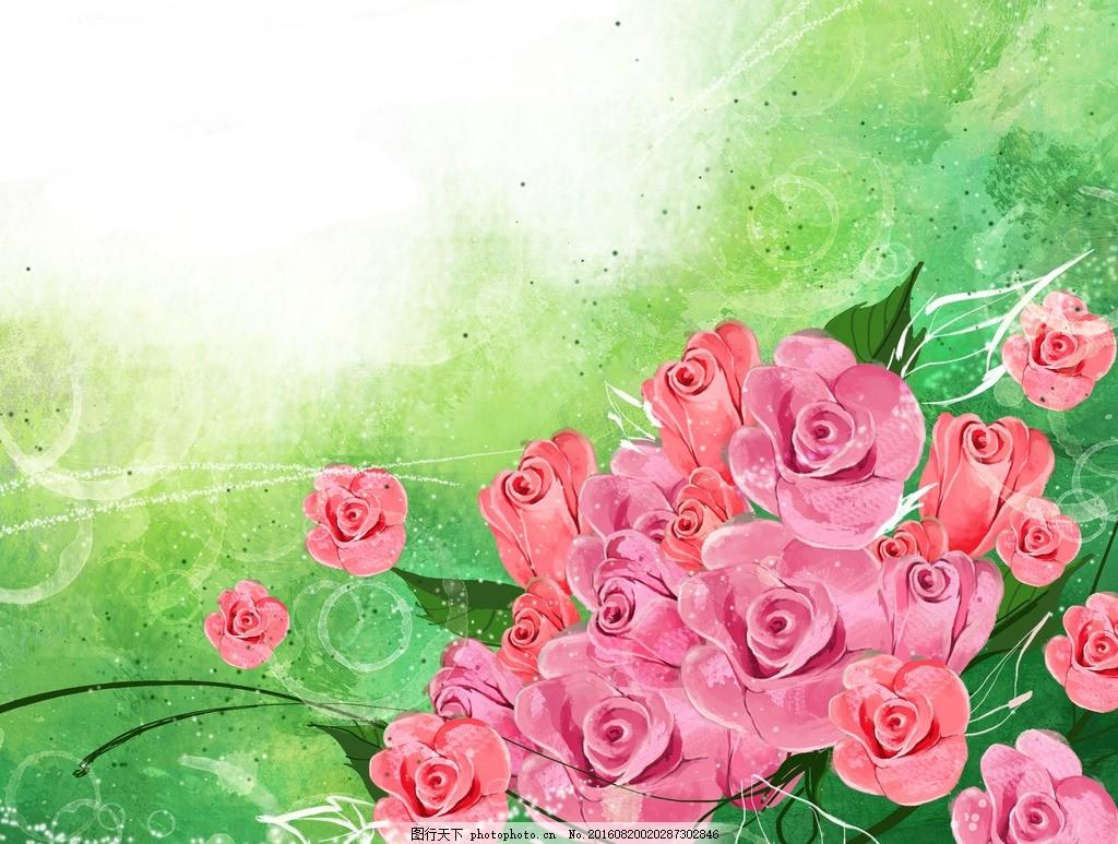 爱心 温馨背景 梦幻背景 影楼素材 花纹花朵 平面素材 花纹边框 小