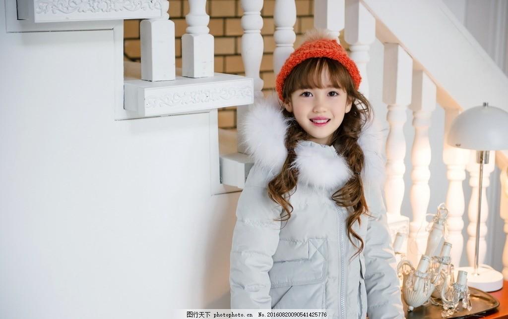 童装棉服      模特 冬款 棉服 套装 女童棉服 摄影 人物图库 儿童