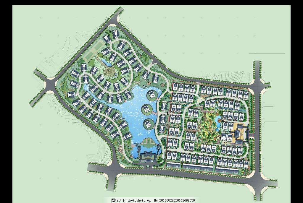 小区规划平面图,小区平面图 别墅 居住区 住宅区 山水