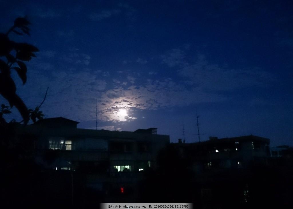 城市夜空 天空 空中 夜晚 月光 自然 建筑 节日 风景 摄影