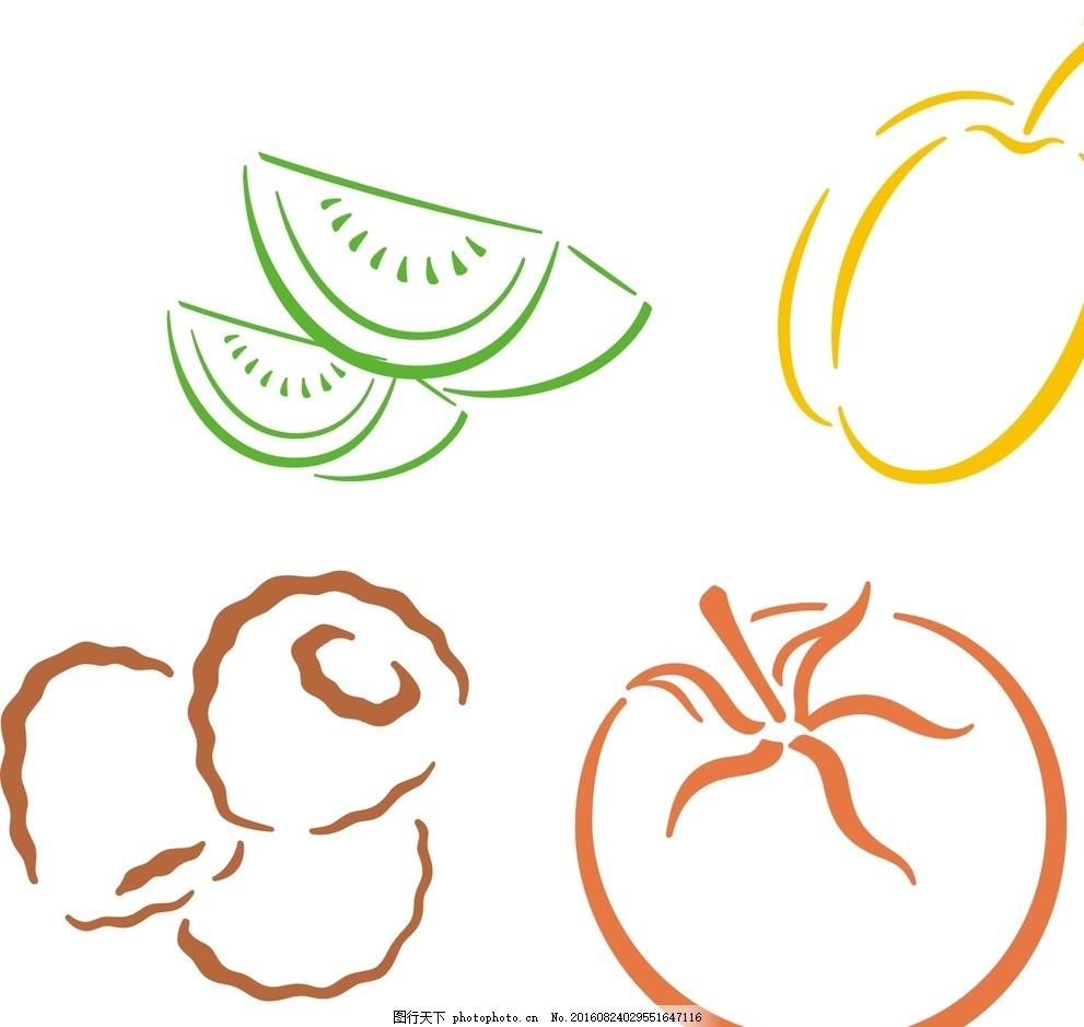 材 手绘 矢量水果素材 矢量 水果素材 矢量水果 卡通水果 简笔画 水果