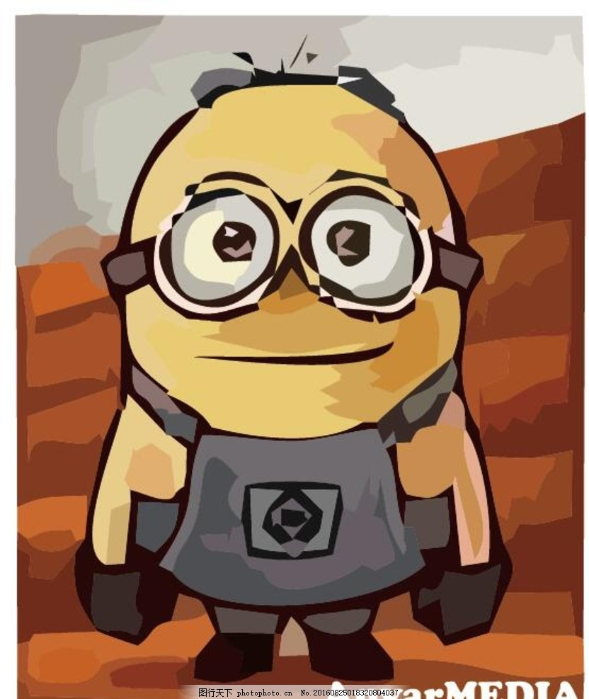 小黄人 卡通 动漫 矢量图 ps小黄人 可爱小黄人 动画卡通矢量 设计 动