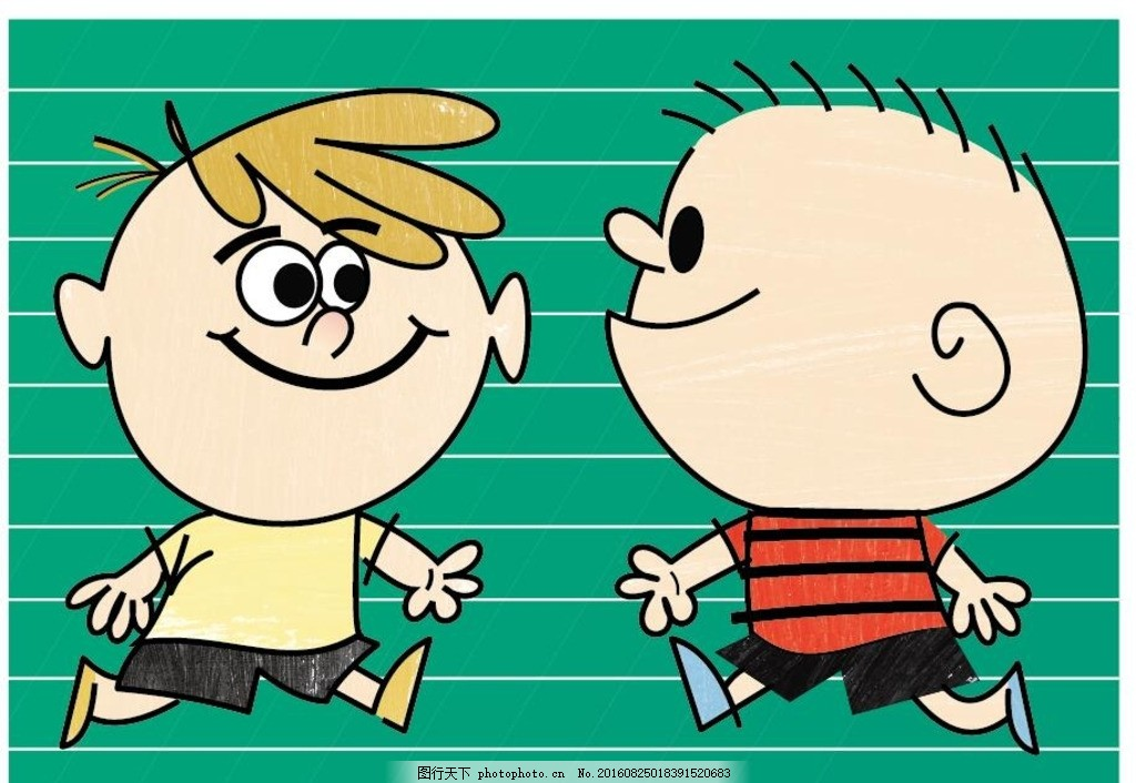 卡通小孩子 少儿 儿童 儿童人物插画 动画卡通矢量 动漫动画