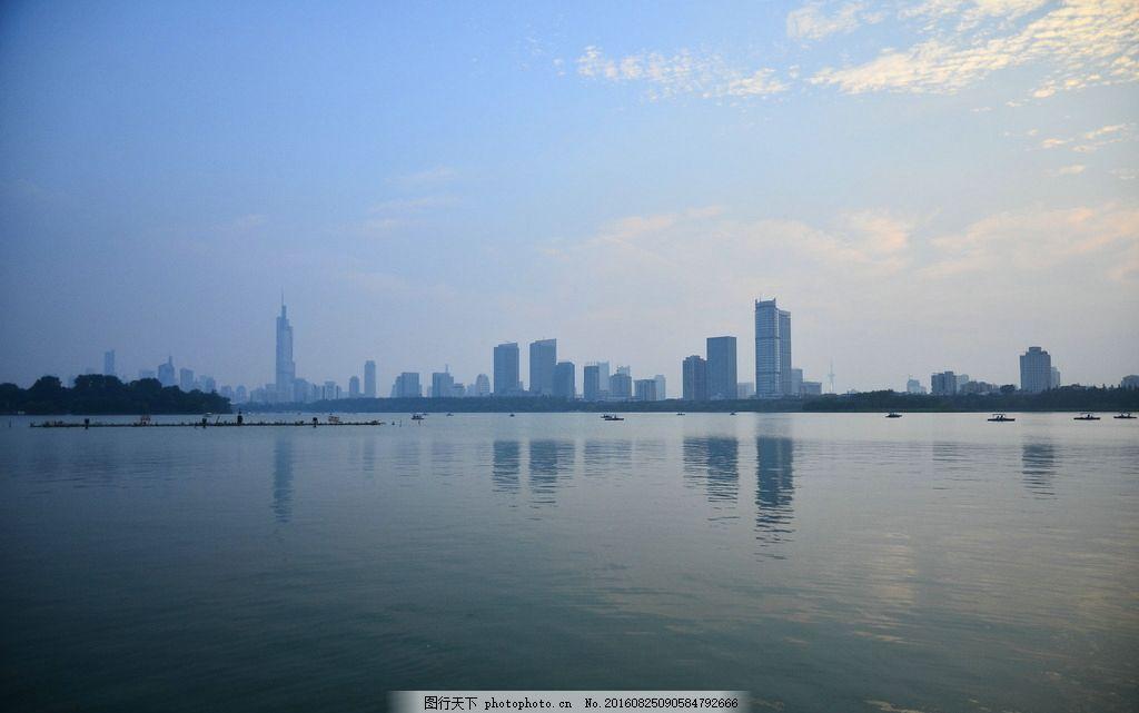 玄武湖 公园 湖泊 南京 紫峰大厦 建筑 城市 夕阳 南京旅游 随想 摄影