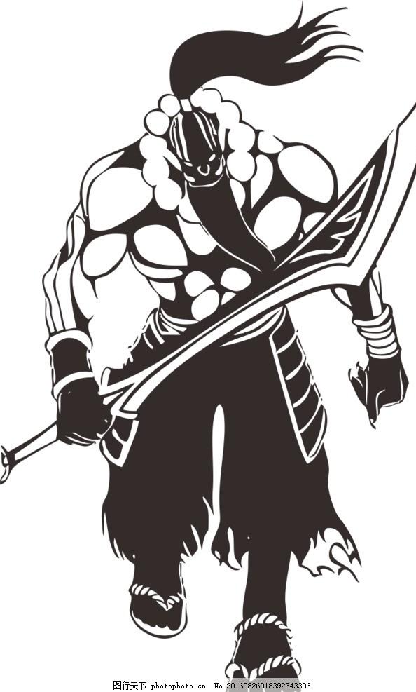 魔兽世界 dota 剑圣 cdr 矢量图 设计 动漫动画 动漫人物 cdr