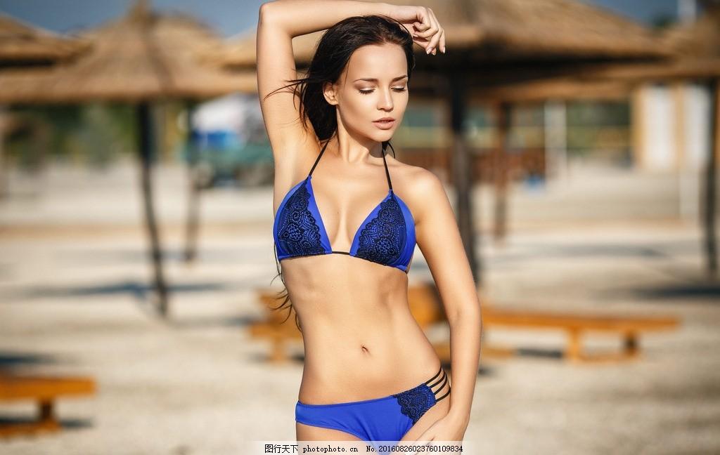 女模特 性感 时尚 气质 身材 西洋美人 西方丽人 内衣 美腿 长腿 泳装