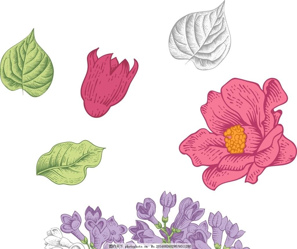 手绘花朵 鲜花 花朵 梦幻花朵 矢量梦幻花朵 唯美 炫丽 矢量花朵 矢量