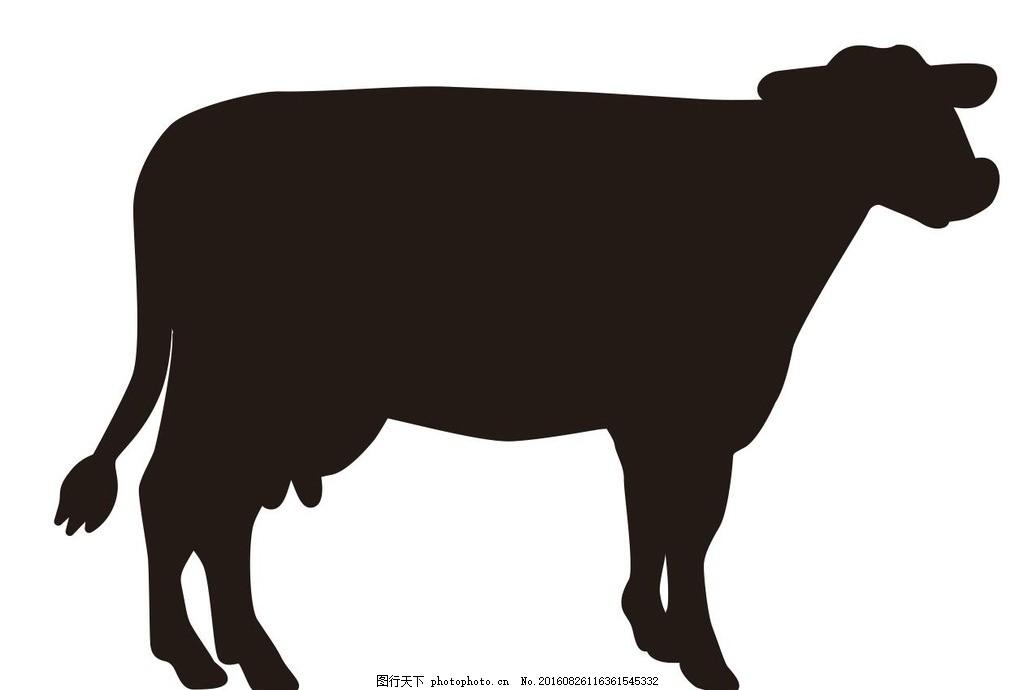 牛 属牛 十二生肖 生肖 艺术插画 插画 装饰画 简笔画 线条 线描 简