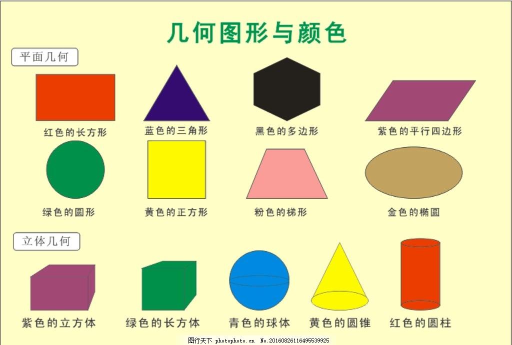 几何图形 平面图形 立体图形 三角形 正方形 长方形 圆 圆柱 设计