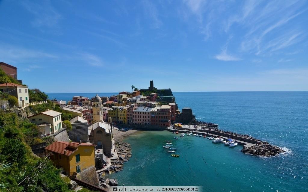 唯美 风景 风光 旅行 人文 城市 意大利 五渔村 爱琴海 浪漫五渔村