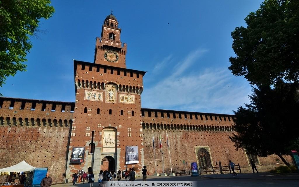 米兰建筑 唯美 风景 风光 旅行 人文 城市 意大利 大都会 时尚米兰