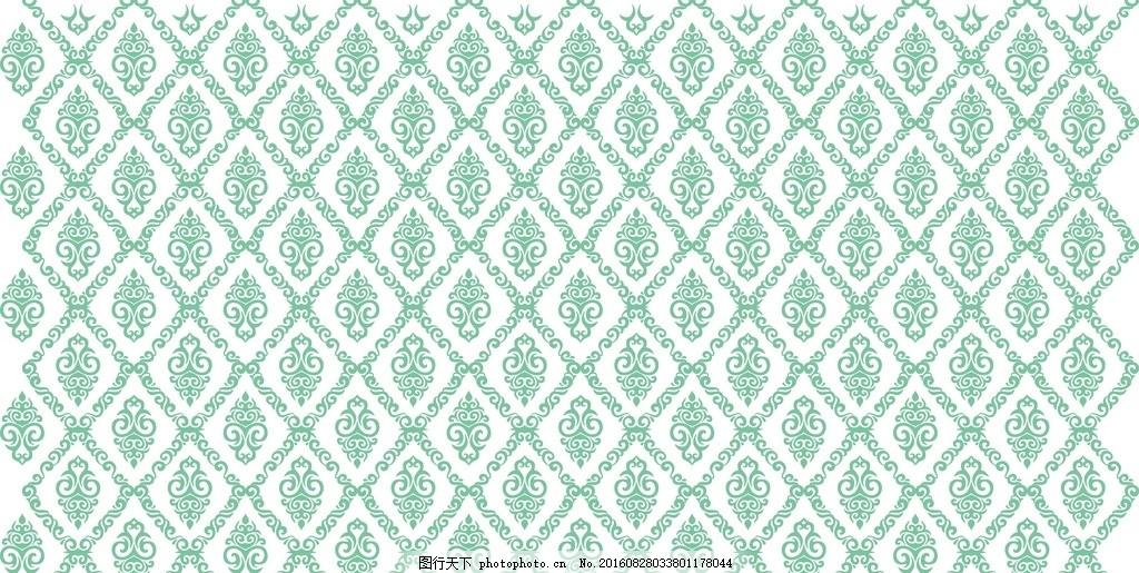 欧式壁纸 欧式矢量图 中式风格 中式 兰舍 古典 硅藻泥花型 展板图案