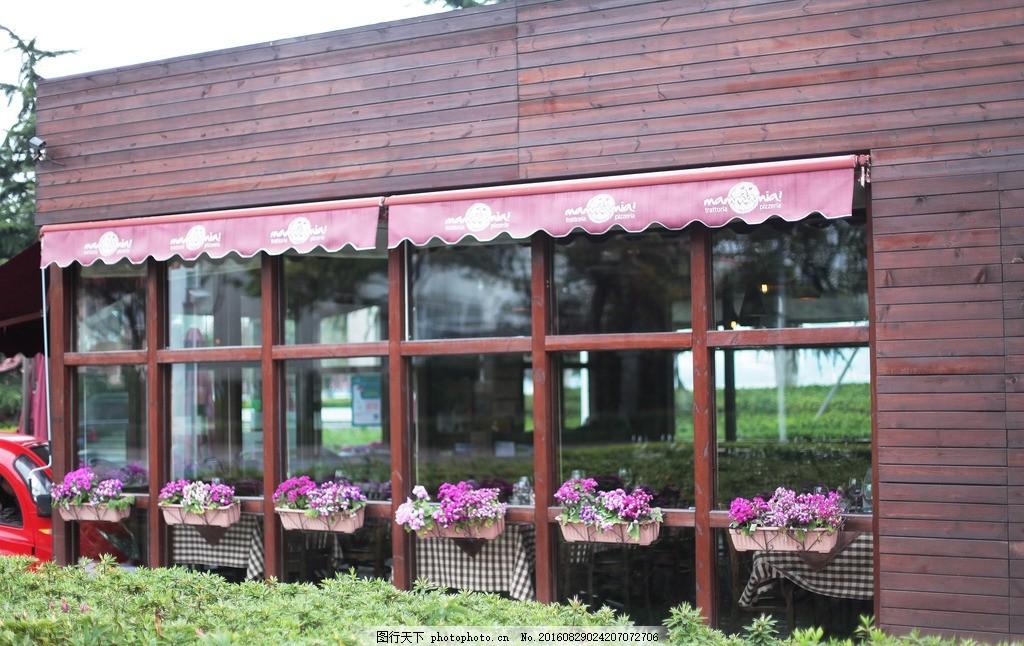 场景 咖啡厅 花 草 复古 设计 自然景观 建筑园林 eps