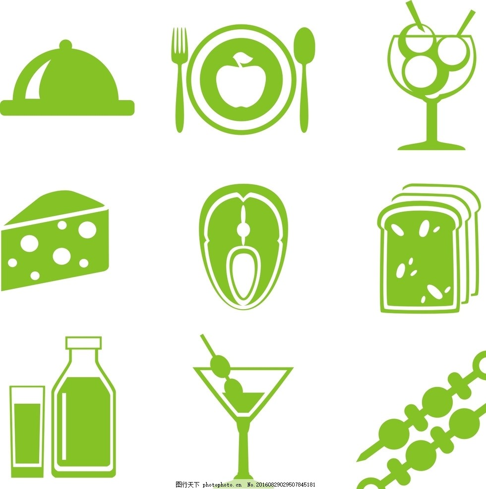 网页图标 常用图标 图标 餐饮图标 标笔画 美食图标 饮品图标 西餐