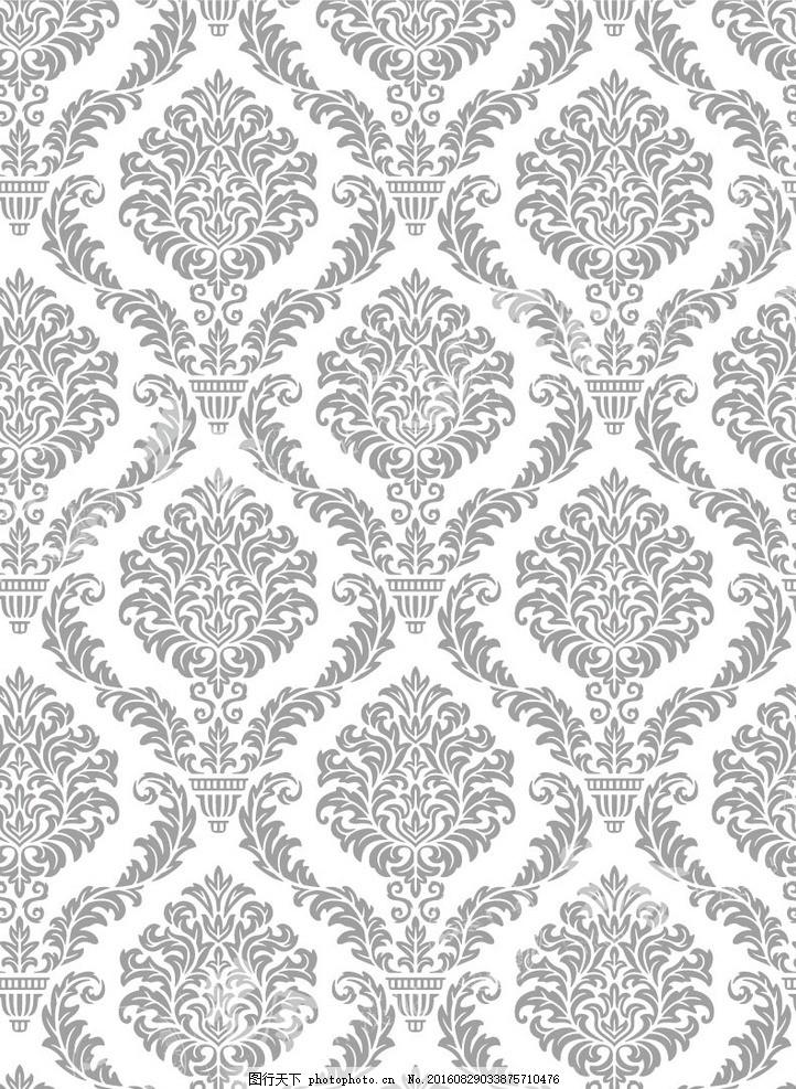 无缝拼花 欧式花 硅藻泥矢量图 艺术拼花 碎花 硅藻泥矢量图 对角花