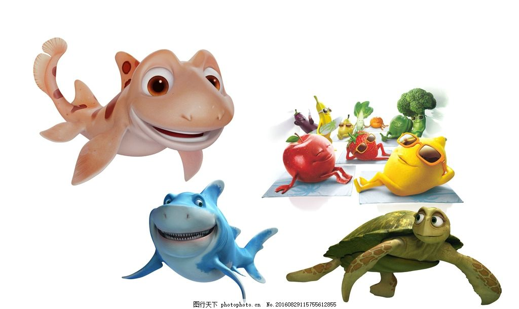 3d动物 卡通 动物 可爱 儿童 天真 图案 设计 动漫动画 卡通植物 动漫
