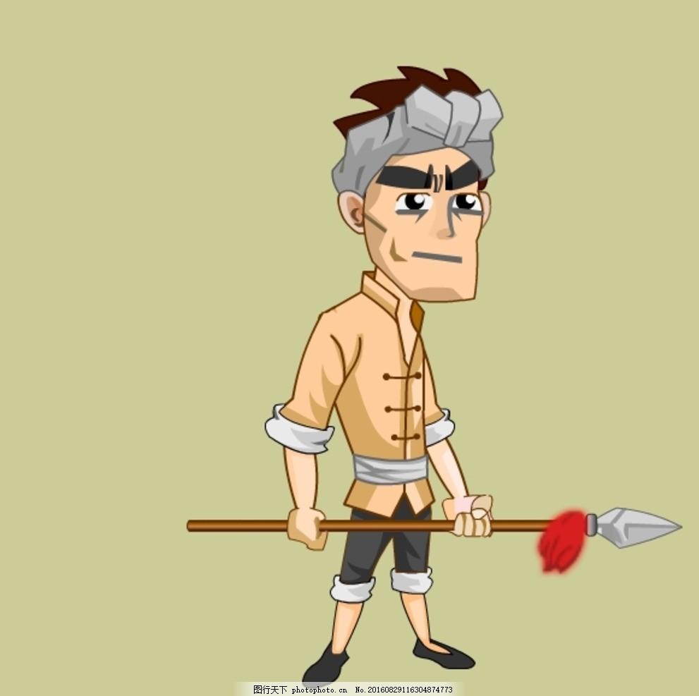 抗日民兵flash素材i下载 人物绘画 鼠绘人物 抗日民兵 卡通人物素材