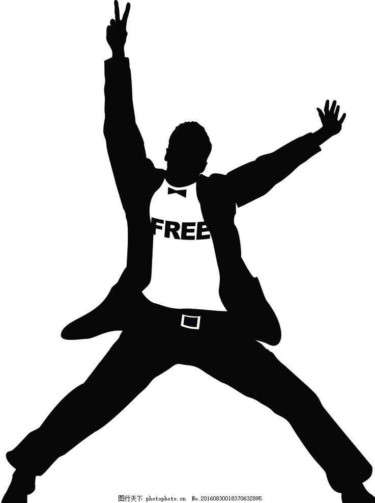 自由矢量圖 人體 黑白 西方 簡筆畫 動漫動畫